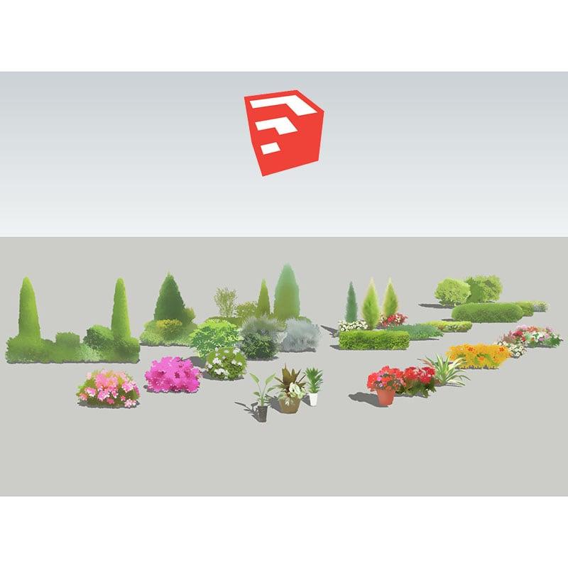 樹木イラストSketchUp 4b_005 - 画像1