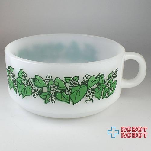 グラスベイク スープカップ リーフ柄