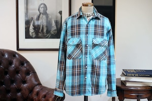 90s FIVE BROTHER HEAVY NEL SHIRT