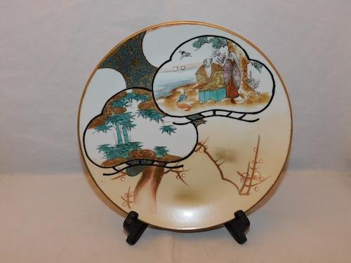 九谷色絵七寸皿(1枚) Kutanii collard porcelain one plate