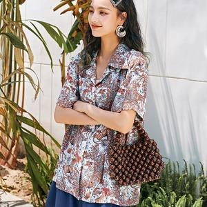 Special Select SS -ビンテージ風プリント半袖ビッグシャツ LSS2086211
