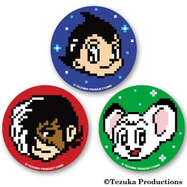 TEZUKA 8bit ピクセルキャラ缶バッジ (3個セット)  / GAMES GLORIOUS