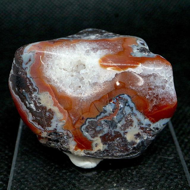 メキシコ クレイジーレース アゲートタンブル 研磨 36,8g AG163  鉱物 原石 天然石 パワーストーン