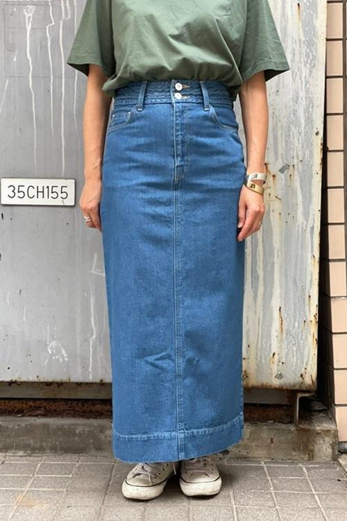 ALTHE(BLACK/VISTA BLUE)タイトスカート
