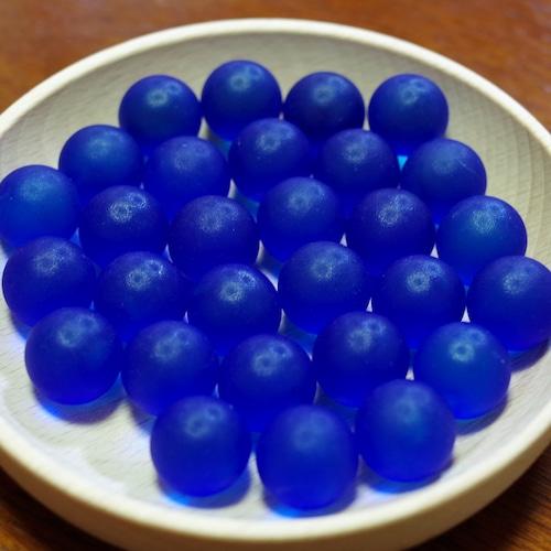 フロストグラスマーブル コバルト17㎜ 30個(松野工業社製・国産)