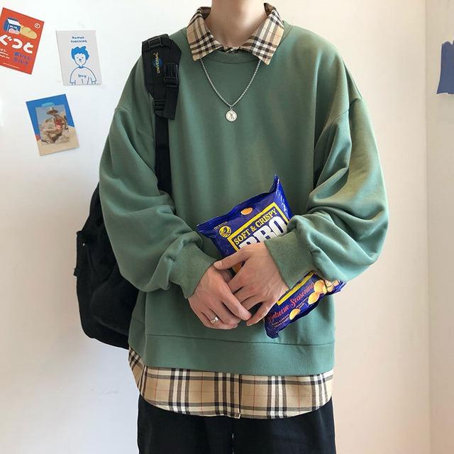 タータンチェックシャツセーター