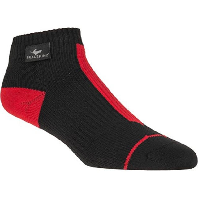 SealSkinz Road Socklet (Black/Red)