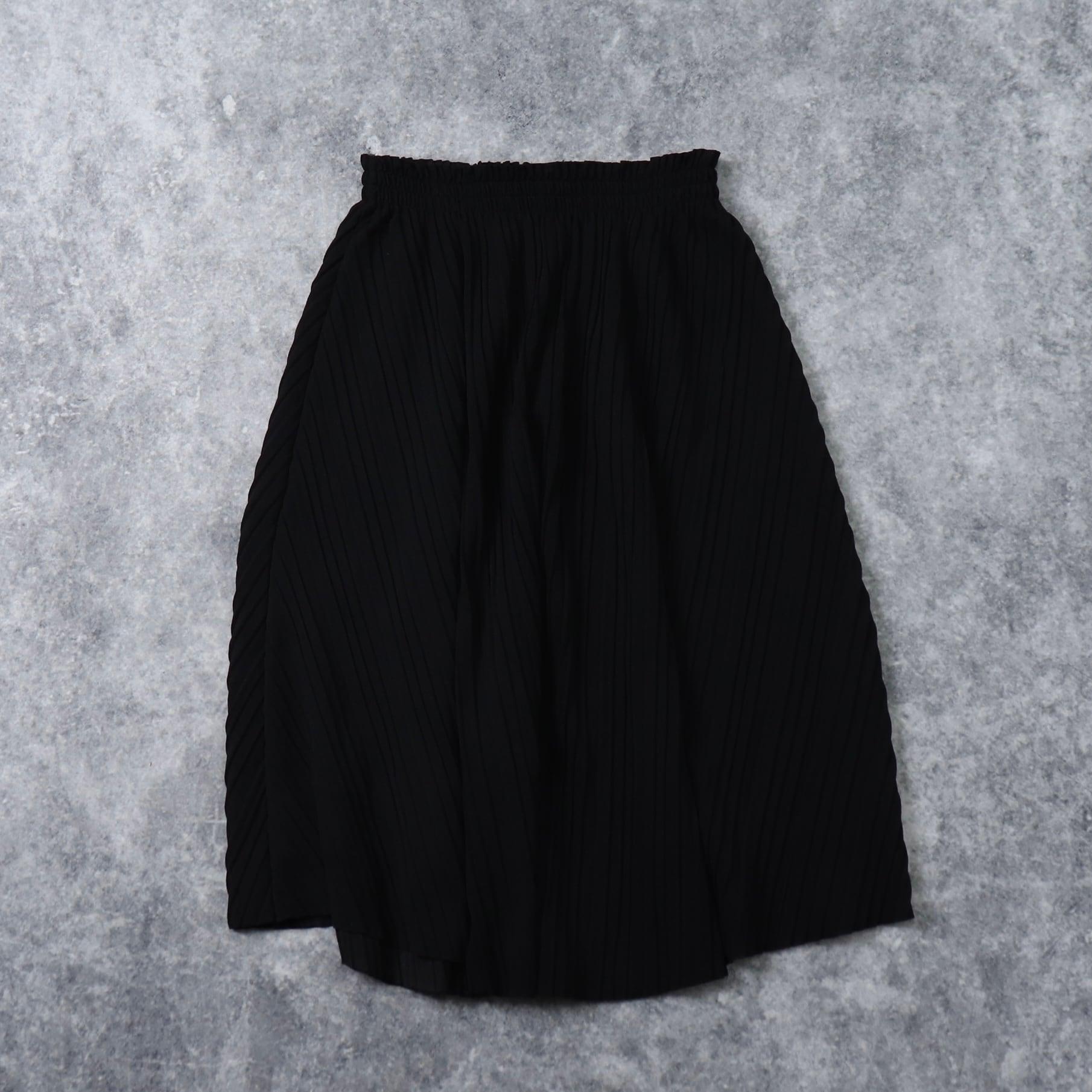 70年代 ヴィンテージ プリーツスカート ポリエステル  ブラック レディース M  古着 Usa 70's  Vintage  Skirt