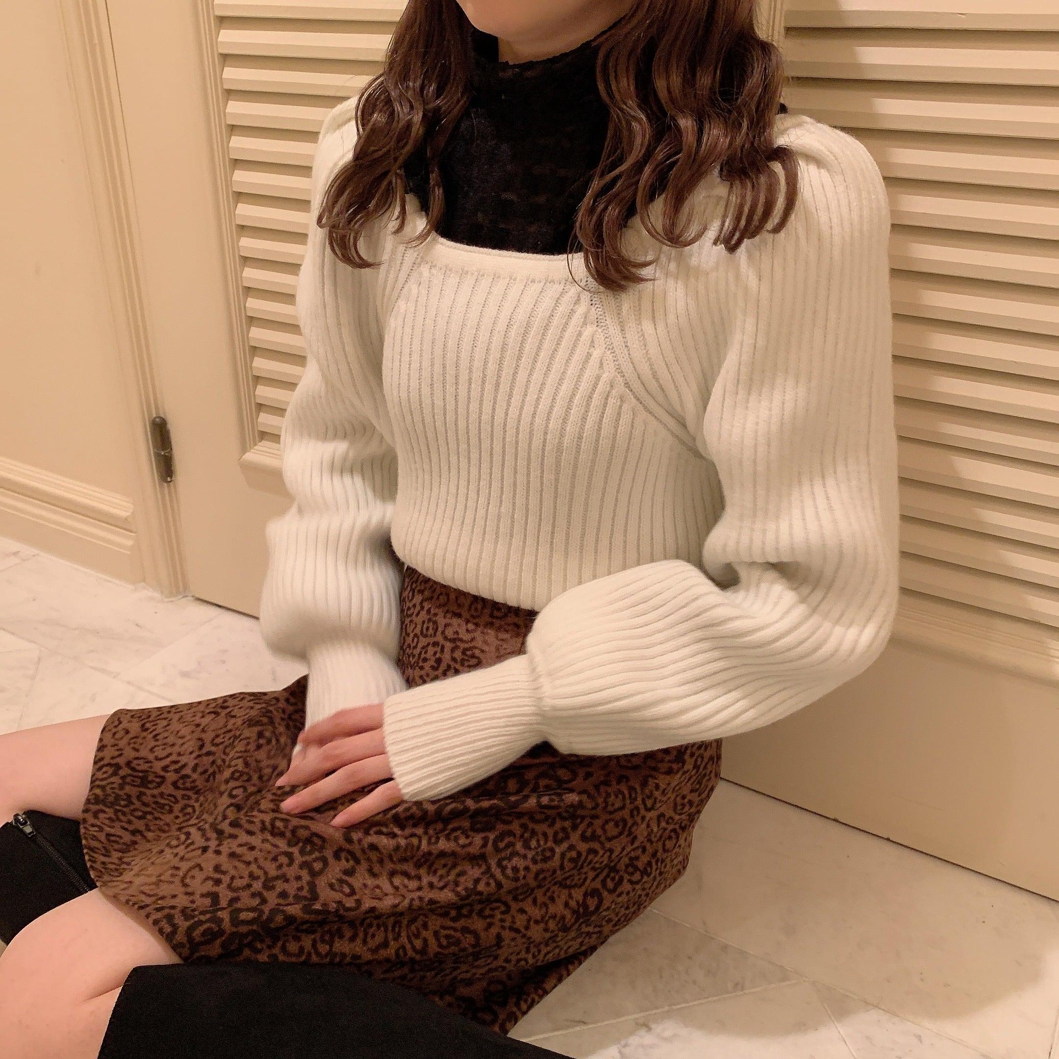 chidori frill blouse(black)