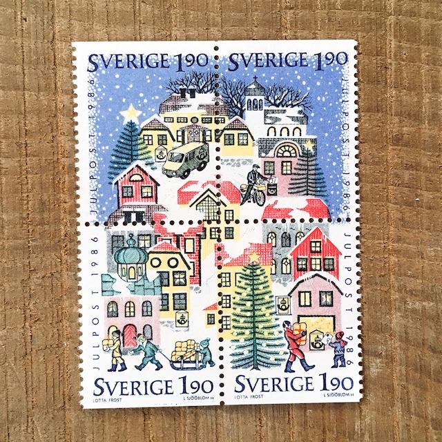 切手(未使用)「1986年版 クリスマス切手:ブロック - 4枚構成(1986)」
