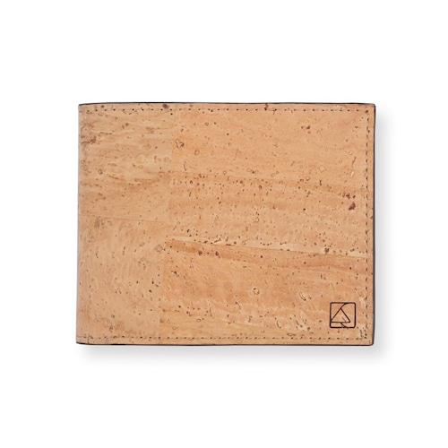 VEGAN  SLIMFOLD WALLET  NATURAL / 二つ折り財布 ナチュラル&ブラック コルク製