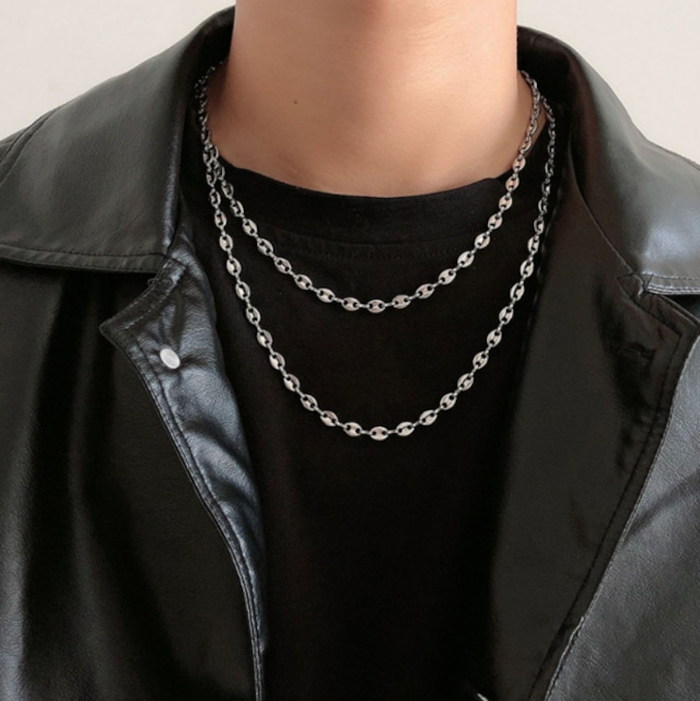 Simple chain design necklace LD0308