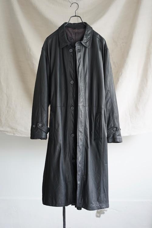 <SOLD OUT>German Vintage - Leather Long Coat