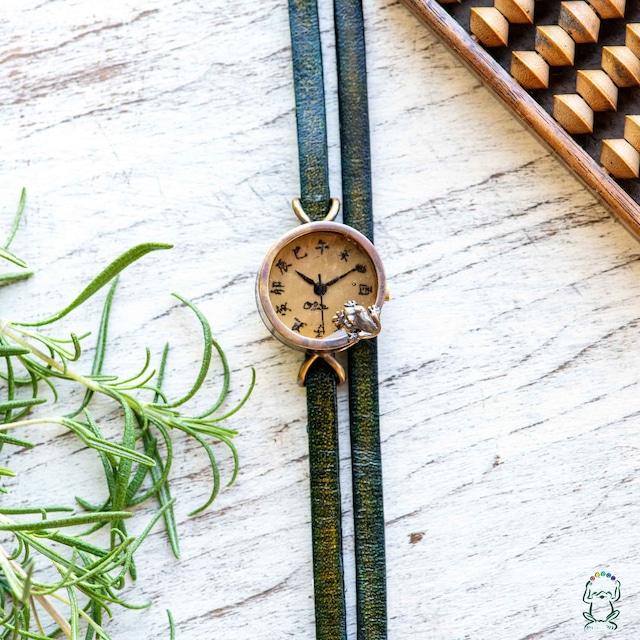 沼を覗く蛙腕時計SS