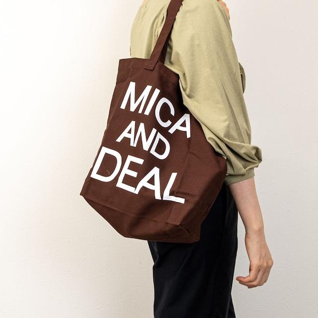 【MICA&DEAL/マイカアンドディール】MICAロゴコットンバッグ(ブラウン)
