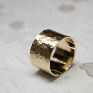 真鍮フラットリング 12.0mm幅 つや消し槌目 3号~27号 WKS FLAT RING 12.0 bs matte hammer FA-368