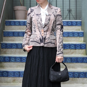 .Christian Dior EMBROIDERY TAILORED JACKET MADE IN ITALY/クリスチャンディオール刺繍テーラードジャケット2000000056944