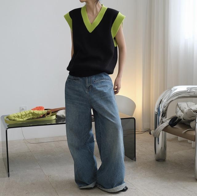 knit vest KRE994