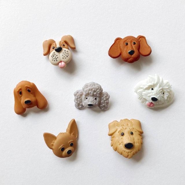 JJボタン 犬の顔ボタンパック