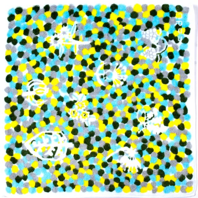 ひびのこづえ ミニタオル 色々 / ブルー 25x25cm 無撚糸 綿100% 日本製 KH16-06