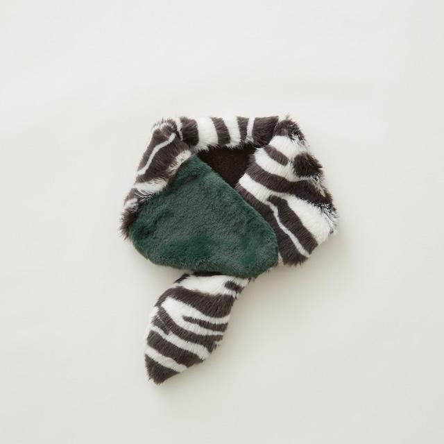 eLfinFolk  Rascal muffler  (zebra×green)  Sサイズ elf-212A23