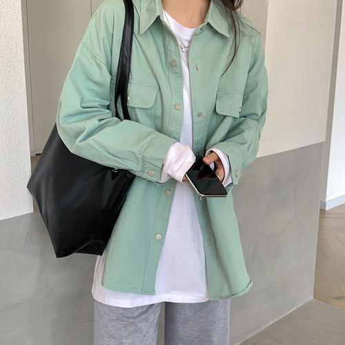 モスグリーンシャツジャケット RD9686