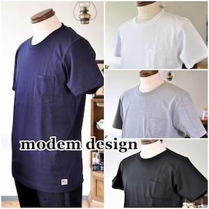 MODEMDESIGN モデムデザイン 半袖カットソー ポケットTシャツ 半袖Tシャツ S-1