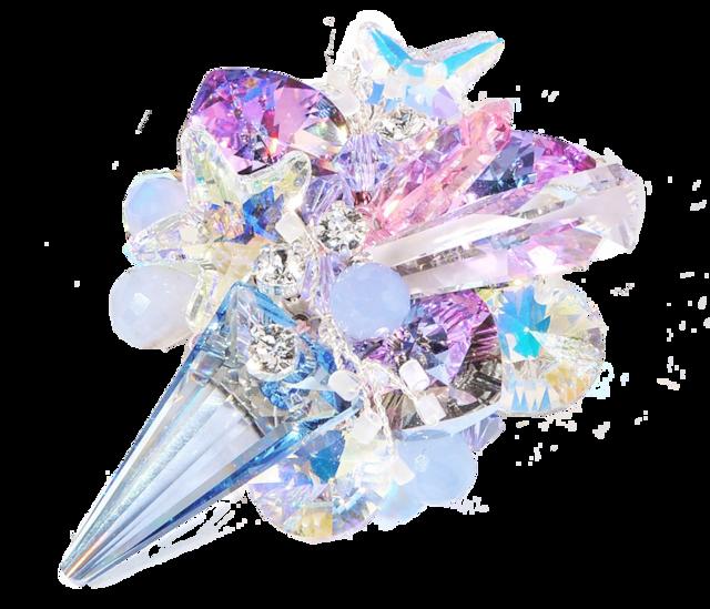 Stardust Brooch (スターダストブローチ)EMU-019-15 オーロラブルー