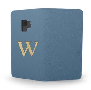 Galaxy Premium Smooth Leather Case (Capri Blue) : Book Cover