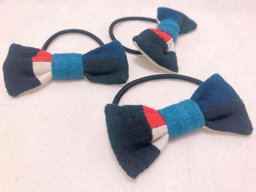 【レンテン族】リボン髪ゴム 手織り・自然染