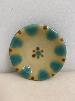 【ノモ陶器製作所】やちむん 4寸皿(緑釉)
