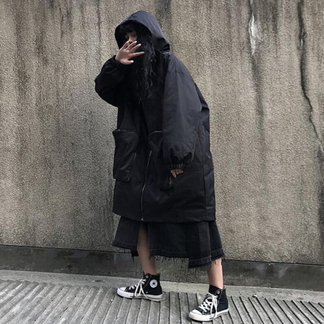 【アウター】韓国系レトロ切り替え膝丈綿入れトレンチコート42920199