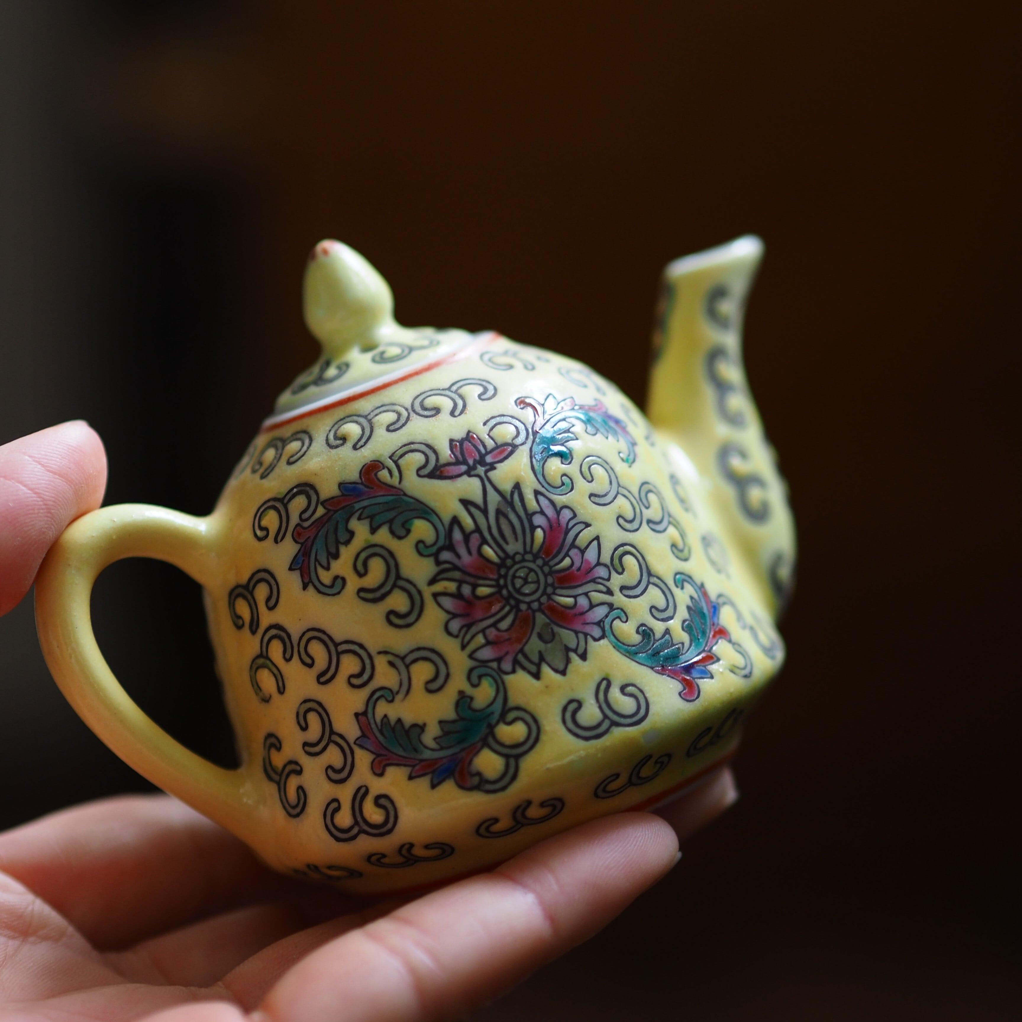 『華黄のちいさな茶壺/急須』景徳鎮