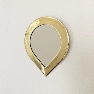 """モロッコの小さな鏡(ドロップ)  Moroccan Brass Mirror """"Drop"""""""