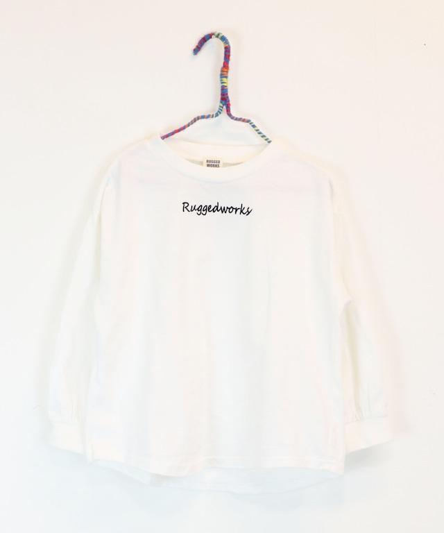 ロゴ刺繍ロングTシャツ(日本製)