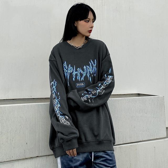 【トップス】シンプル長袖プリント図柄ストリート系ファッションTシャツ38466780