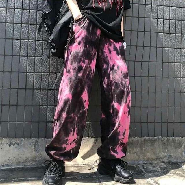 【ボトムス】 タイダイ個性的ストリート系ファッションパンツ42906954