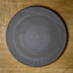 鉄錆 8寸丸皿(平皿・フラットプレート)/吉永哲子