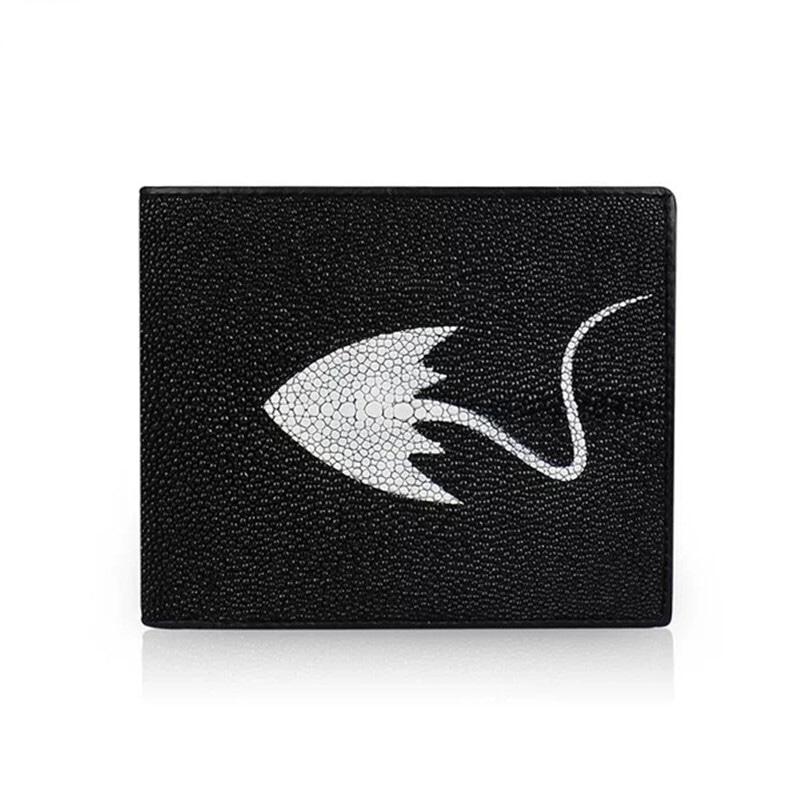 店長おすすめ 【エイ革財布】ユニセックス 二つ折り財布 スティングレイ【金運アップ】