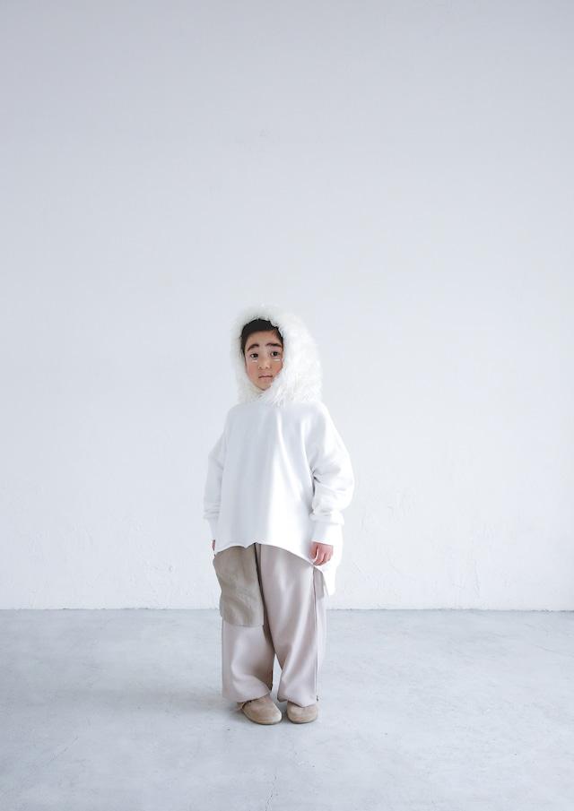 【21AW】ミチリコ(michirico) Fur foodie white【L・XL・XXL】スウェット