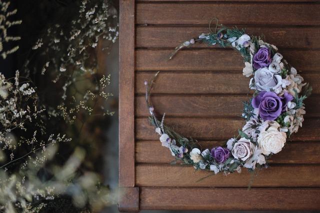三日月リース〜グレージュな月