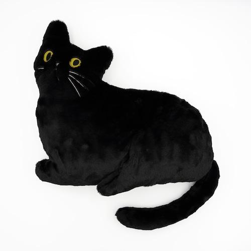猫クッション(ミミクッション)ブラック