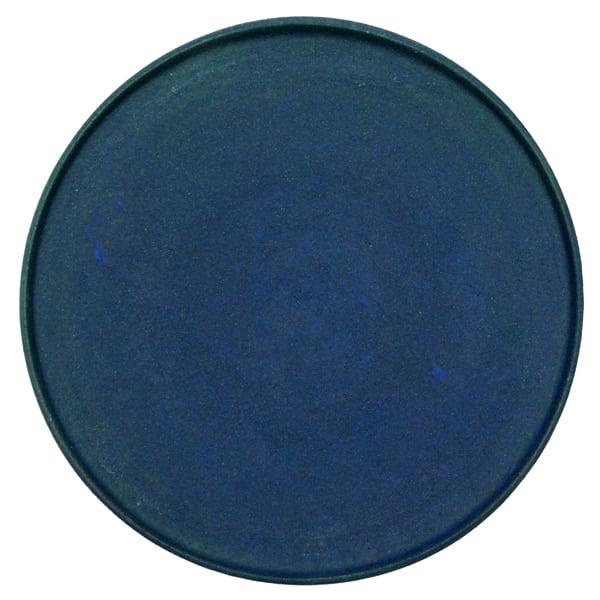 若狹祐介 フチタチ皿24cm 藍香