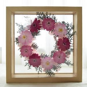 ジニアと紫陽花のフレーム