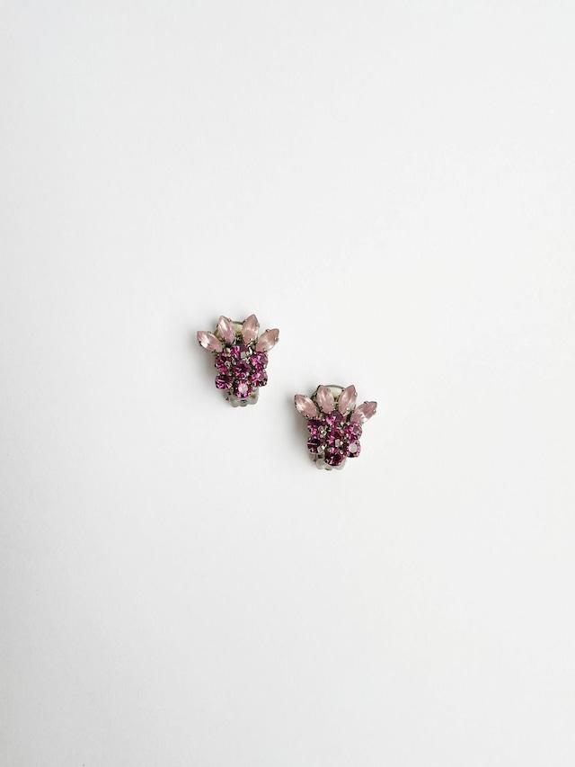 VINTAGE FLOWER purple bijou earrings