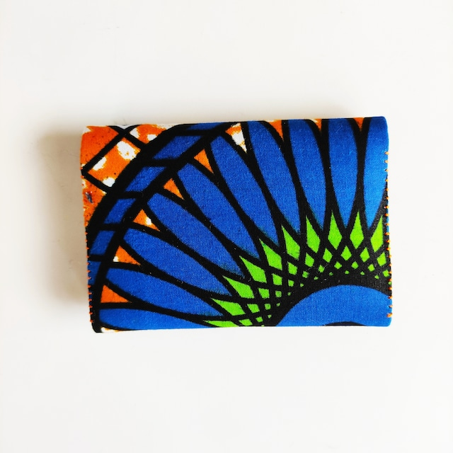 アフリカンファブリック Fan fan card Folder