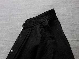frenchvictorians strap-cover linen shirt / antique-black