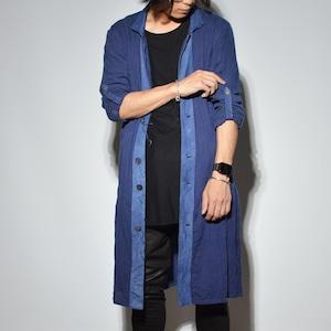 "Leather×Cotton ""Coat"" 〈 Deep Indigo Blue 〉"