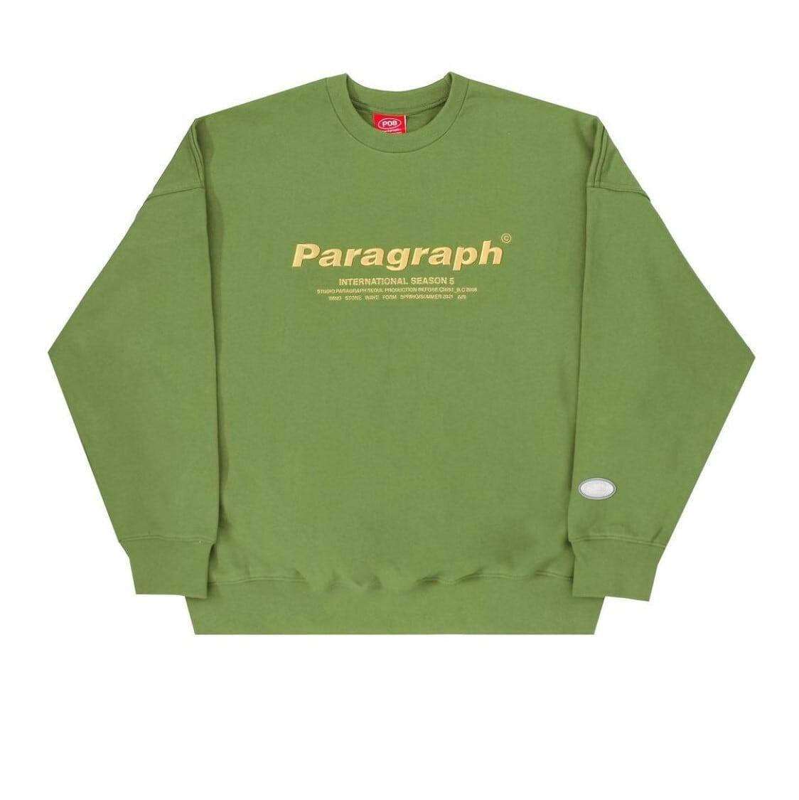 【PARAGRAPH】フロントロゴスウェットトップス