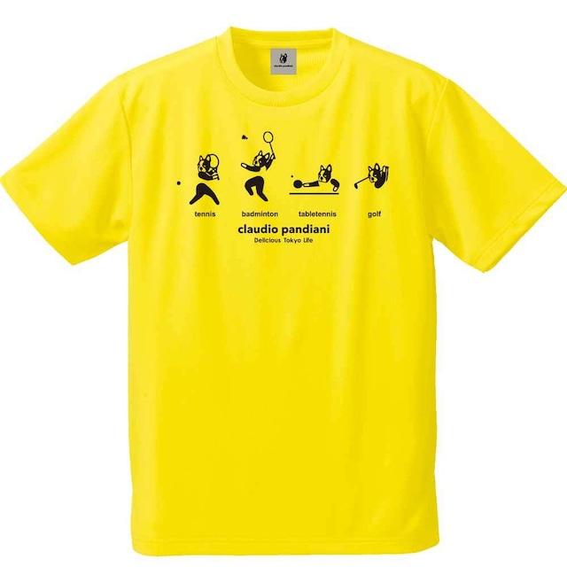 庭羽卓打球+4 半袖Tシャツ(CP20240)/イエロー(27)・ホワイト(1)・ブルー(57)・グリーン(71)